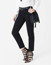 NEW EXPRESS $70 BLACK ULTIMATE DOUBLE WEAVE EDITOR ANKLE PANTS SZ 0
