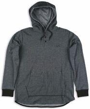 Matix MEMORY HOODY Mens Pullover 3-Button Knit Henley Medium Black NEW