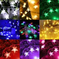 2M 20LED Christmas LED String Star Fairy Lights Holiday Xmas Wedding Party Decor