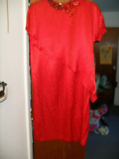 Holiday dress Red Alicia sequin collar 13/14 Formal wear Dressy party $14.96