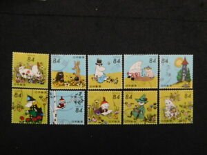 JAPAN COMMEMO STAMPS( 2021 MOOMIN. 84yen ) USED