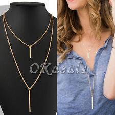 Charm Dame Gold Halskette Anhänger Necklace Lang Kette Geschenk Modeschmuck DODE