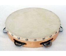 Tambourin En Bois À 6 Cymbalettes et Peau Naturelle