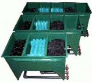 Tripond Reihenfilter 3-Kammer GFK mit Deckel u. Füllpaket