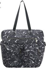 Monsoon Accessorize Feathers Weekender Bag Canvas Black White Bnwt Tote