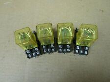 Lot Of 4 Idec Relay Rr3b U 24vdc 10a Amp 11 Pins With Base