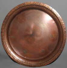 VINTAGE HAND MADE WROUGHT COPPER SERVING TRAY