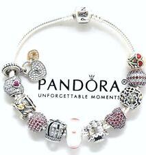 ALL Authentic Pandora 925 Silver Bracelet 11 Authentic 925 Pandora Charms Red