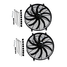 "2X16"" 12V CURVED BLADE RADIATOR ELECTRIC THERMO FAN MOUNTING KIT"