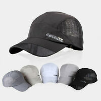 Men Women Outdoor Sport Hat Baseball Mesh Cap Adjustable Running Visor Hat
