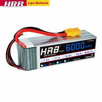 HRB Lipo Akku 6000mah 6S 22.2V 50C-100C XT90 Stecker