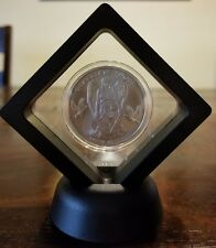 1 oz .999 silver Guardian Angel NIUE 1 dollar silver coin beautiful woman Framed