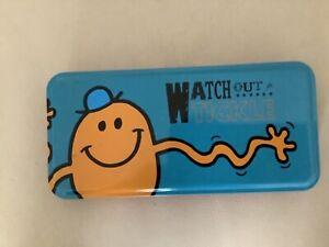 Mr Men Mr Tickle Pencil Case Metal Tin 21cm x 10cm x 2.5cm Watch out for Tickle