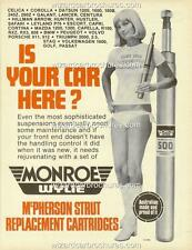 1978 MONROE WYLIE HOLDEN FORD A3 SEXY BIKINI GIRL POSTER AD SALES BROCHURE