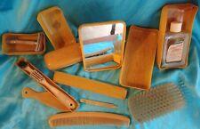Vintage Mens Toiletry Shaving Celluloid Vanity Set