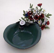 Vogeltränke, Vogelbad aus Keramik Handarbeit mintgrün Ø ca.18 cm