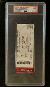 Ronald Acuna MLB DEBUT Box Office Ticket (4/25/18) Braves @ Reds PSA 10 GEM MINT