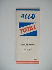 ALLO TOTAL - guide STATION et LISTE DE POINTS de VENTE NORD - 1963