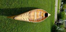 Cedar Wood Strip built Canoe -16 ft- One of a Kind - Handmade