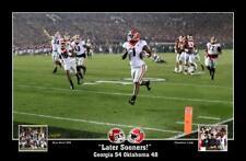 "Georgia Bulldogs vs Oklahoma CFP print ""Later Sooners""  Sony Michel"