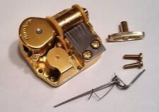 """Sankyo 18 Note Music Box Movement With Reuge Wire Stopper-""""Congratulat ions"""""""