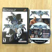 Soul Calibur 2 II Playstation 2 PS2 Complete CIB Manual Tested Cleaned Fast Ship