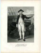 John Paul Jones, American Revolutionary War/Continental Navy, Engraving (8421)
