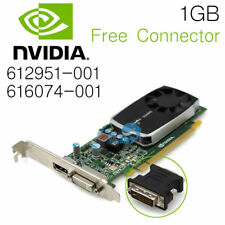 NVidia Quadro 600 1GB DDR3 PCIe Video Card Free Connector 612951-001 616074-001