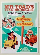 "Disney WONDERGROUND Postcard MR TOAD'S Motorcars ""Take A Wild Ride"" by Perillo"