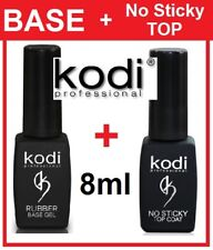 2pcs! RUBBER BASE + NO STICKY TOP 8ml Kodi Professional - Gel LED/UV Gummi Basis