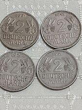 Germany - 4 x 2 Mark 1951 D, F, G, J, RAR