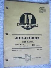 I&T ALLIS CHALMERS D-10, D-12 TRACTOR SHOP MANUAL