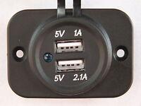 Double USB Socket Flush Mount Square for Car 4x4 Camper Trailer Caravan