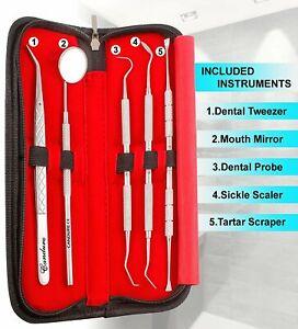 Dental Teeth Whitening Kit Dentist Tooth Plaque Calculus Tartar Remover Tools