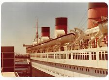 Vintage 70s PHOTO Queen Mary Ship