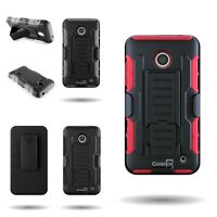 Belt Clip Holster Cover Dual Layer Hybrid Tough Case for Nokia Lumia 635