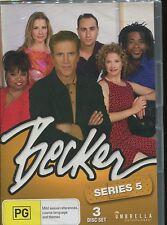 BECKER - SERIES 5 - Ted Danson, Hattie Winston- 3 DVD's - 22 EPISODES