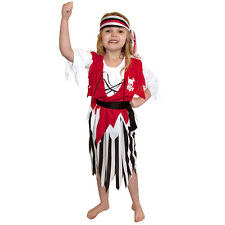 Pirate Girl Children Fancy Dress Costume Party Decoration 2 Sizes - Medium
