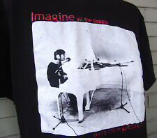 John Lennon Imagine Peace Piano Licensed Black T-Shirt Large