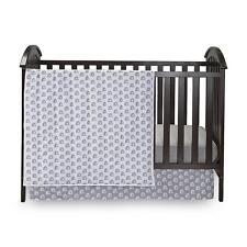 K Baby 3-Pc Nursery Baby Crib Set - Elephants Gray / White