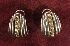 Lagos Earrings Sterling Silver 18 karat yellow gold