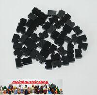 50X Lego® 2877 Basic Rillen- Riffelsteine 1X2 Schwarz Black NEU