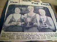 Ephemera item 1930s leicester swimming spence st jean smith joan lythall da8