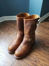 "Chippewa 11"" Distressed Brown Engineer Boots Steel Toe Made In USA (Size: 11E)"