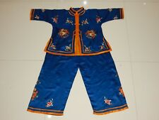 Antique Chinese Hand Embroidered Baby Suit 19thC (X554)