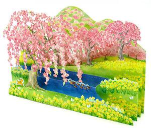 Cherry Blossom Splendor Pop Up Decorative Greeting Card