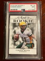 Carson Wentz Rookie 2016 Leaf II PSA Mint 9