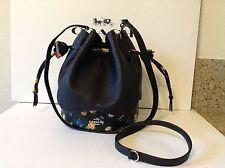 NWT. Coach Pebble Leather Petal Mix Drawstring Shoulder  Crossbody Bag F57544