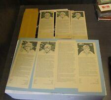 1973 Osmond Brothers Fan Club Biography Photo Card Sheet Set Donny Merrill Wayne