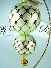 """Christopher Radko:  """"FRENCH REGENCY"""" Elegant Polish Glass Ornament - BEAUTIFUL"""